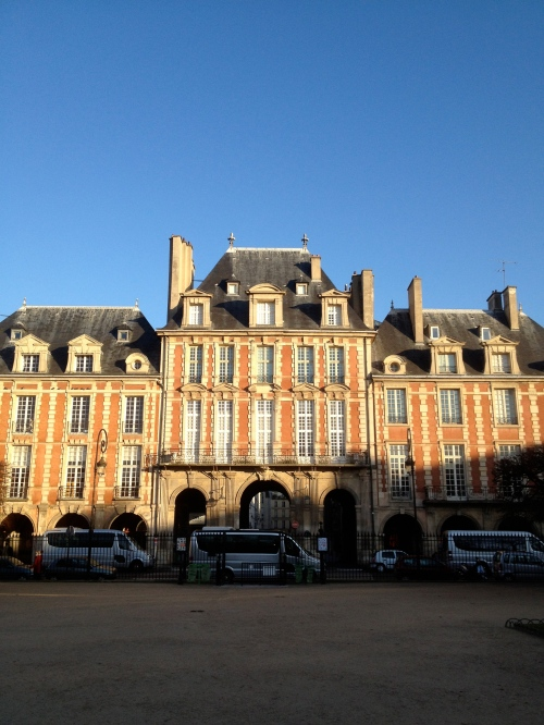 morning light on Place des Vosges