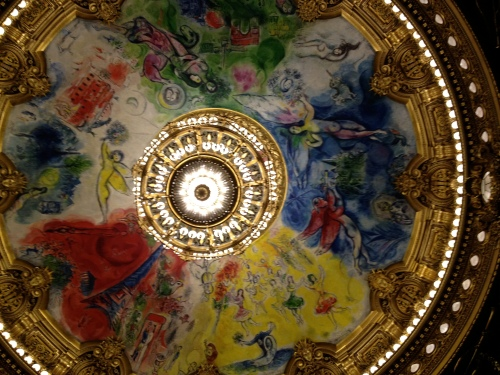 Ceiling of auditorium by Marc Chagal