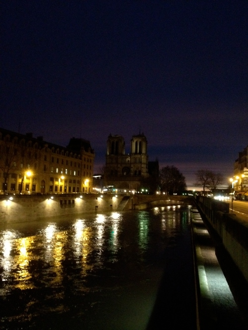Hark!  Is that Notre Dame I see by the dawn's early light?