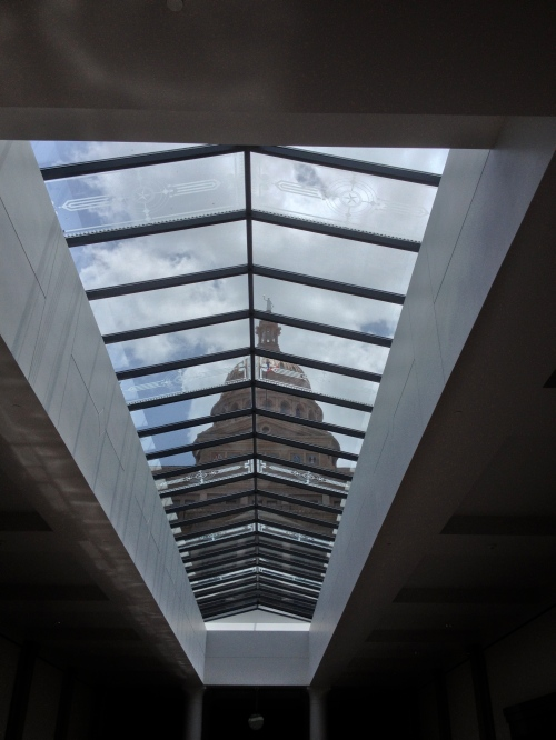 View from the skylight of the new underground extension
