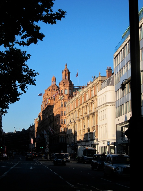 Harrod's in the evening shadows.