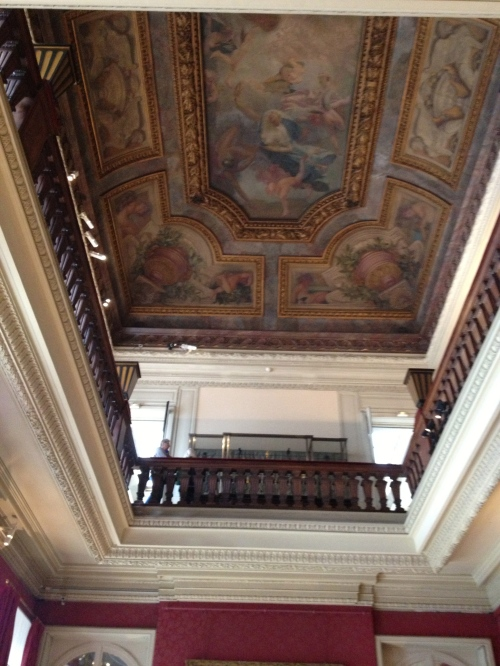 ceiling above the music room