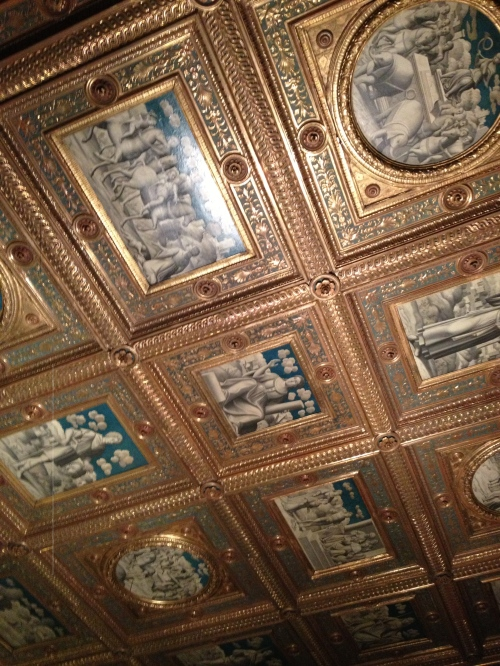 ceiling in one of the Italian Collection rooms
