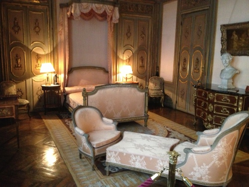 His bedroom, which looks a bit frou-frou because she re-decorated it after his death.  I guess she had been waiting to do something with that room....