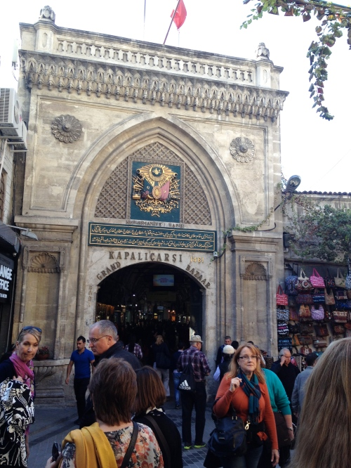 entrance to the Grand Bazaar, which was labyrinthine and amazing and full of good stuff