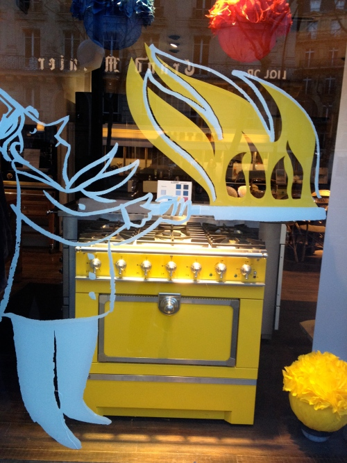 fancy yellow stove