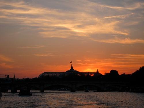 boat ride sunset