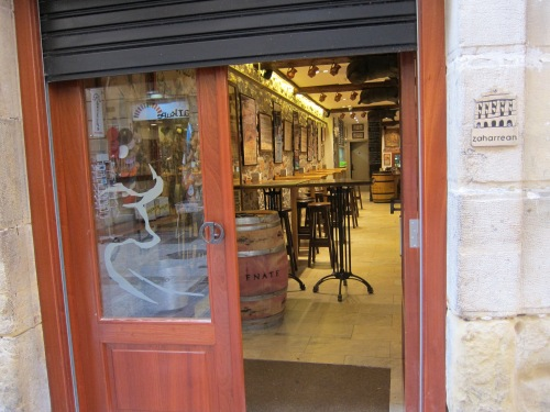 We ate tapas here last night. I love the bull on the door.