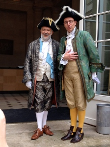 These two jaunty gentlemen greeted us at the door. The period costumes were gorgeous.