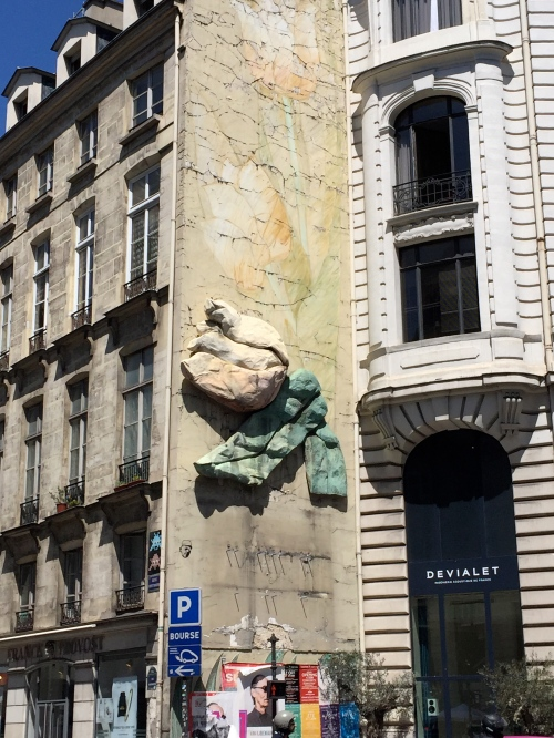 Street art that reminds me of paper mache