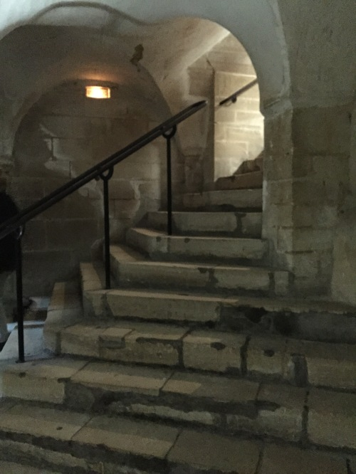 stairs down to the crypt