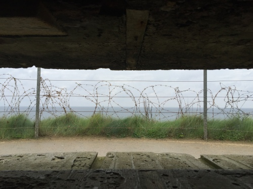 view from a bunker